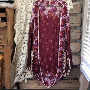 FREE PEOPLE (Intimately Free People) kimono BNWOT